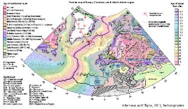 New tectonic map of Europe